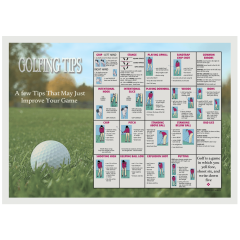 10 in x 14 in Golf Tips and Terms Paper Placemats 1000 ct.