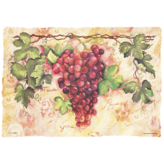 10 in x 14 in Burnt Edge Tuscany Paper Placemats 1000 ct.