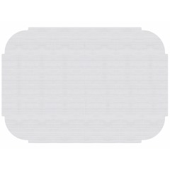 10 in x 14 in Tiffany Edge Linenized White Paper Placemats 1000 ct.