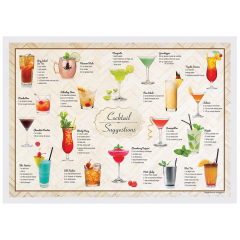 10 in x 14 in Cocktails Paper Placemats 1000 ct.