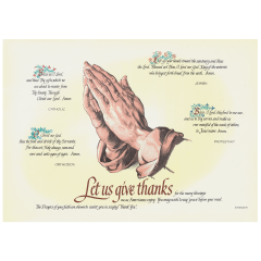10 in x 14 in Four Faiths Paper Placemats 1000 ct.