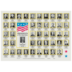 10 in x 14 in US Presidents Paper Placemats 1000 ct.