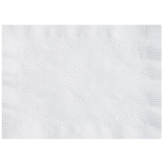 10 in x 14 in Anniversary Embossed White Paper Placemats 1000 ct.