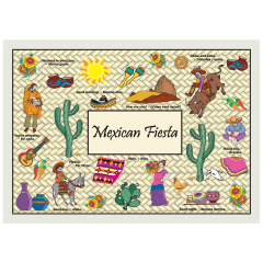 10 in x 14 in Ethnic Printed Placemats 1000 ct.