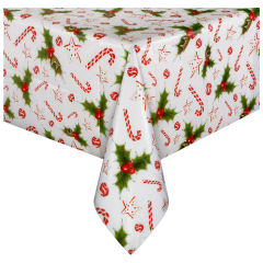 Holiday Happiness Plastic Tablecover