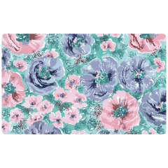 11 in x 18 in Whispering Floral Paper Traymats 1000 ct.