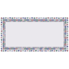 11 in x 20.5 in Tile Mosaic Paper Traymats 1000 ct.
