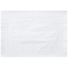 15 in x 20 in Classic Embossed White Paper Traymats 1000 ct.