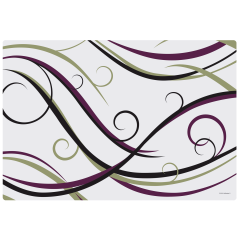 13 in x 19 in Swirls Room Service Paper Traymats 1000 ct.