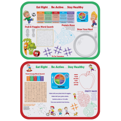 13.75 in x 18.75 in Kids Activity Paper Traymats 500 ct.