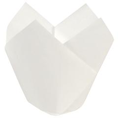 3.5 in Small White Paper Tulip Cups 2500 ct.