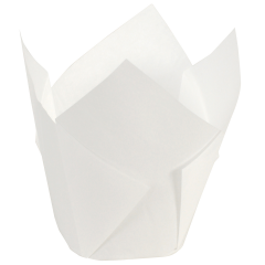 4 in Large White Paper Tulip Cups 2500 ct.