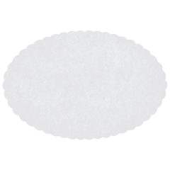 7 in x 9.5 in Scalloped White Oval Wastebasket Liners 2000 ct.