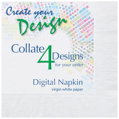 Collated Bright White Beverage Napkins