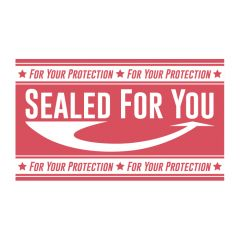 "1.75 in x 3 in ""Sealed For You"" Tamper Evident Stickers 500 ct."