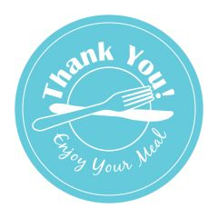 "3 in ""Thank You"" Tamper Evident Stickers 500 ct."