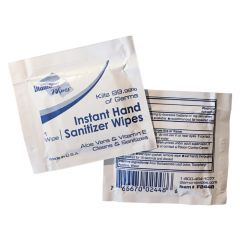 7.25 in x 5 in Instant Hand Sanitizer Wipes 1,000 ct.