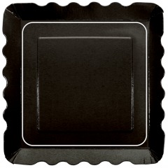 Large Black Appetizer Plate
