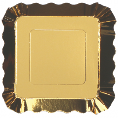 3 in x 3 in Gold Metallic Appetizer Plates 200 ct.