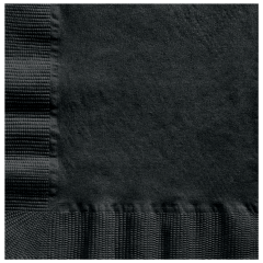 5 in Coin Embossed Black Beverage Napkins 1000 ct.