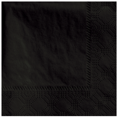 4.75 in Regal Embossed Black Beverage Napkins
