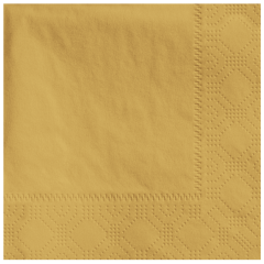 4.75 in x 4.75 in Regal Embossed Glittering Gold Beverage Napkins 1000 ct.