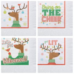 Reindeer Games Beverage Napkins