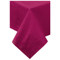 54 in x 54 in Burgundy Paper Tablecloths 50 ct.