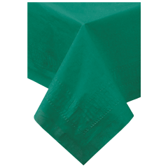 54 in x 108 in Hunter Green Paper Tablecloths 25 ct.