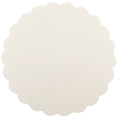 4 in Scalloped White Budgetboard Coasters 1000 ct.