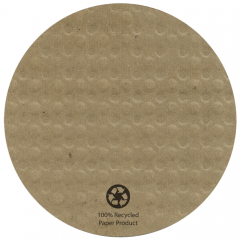 4 in Round Kraft EcoWave Coasters 1000 ct.