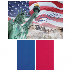 Patriotic Paper Placemat and Napkin Combo Pack 500 ct.