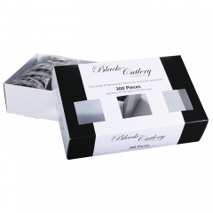 Black Cutlery Box