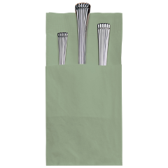8.25 in x 4.25 in Coin Embossed Quickset Sage Green Dinner Napkins 800 ct.