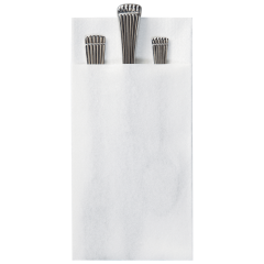 8.5 in x 4.25 in Linen-Like Quickset White Dinner Napkins 300 ct.