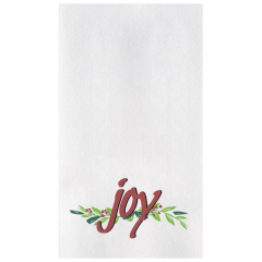 8.5 in x 4.25 in Linen-Like Joys of the Season Dinner Napkins 300 ct.