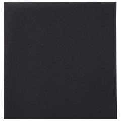 8 in x 8.5 in Linen-Like Black Dinner Napkins 300 ct.