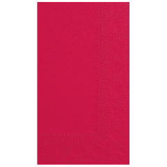 7.5 in x 4.25 in Regal Embossed Red Dinner Napkins 1000 ct.