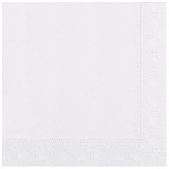 8.5 in x 8.5 in Regal Embossed White Dinner Napkins 2000 ct.