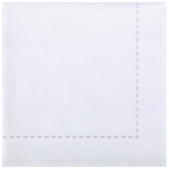 7.75 in x 7.75 in Bello Lino White Stitch Dinner Napkins 600 ct.