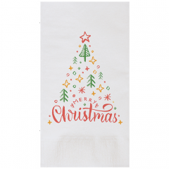 8.5 in x 4.25 in Coin Embossed O Christmas Tree Dinner Napkins 1000 ct.