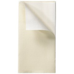 8 in x 4 in Reversible FashnPoint Ivory and White Dinner Napkins 800 ct.