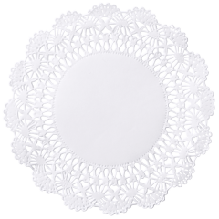 5 in White Cambridge Lace Doilies