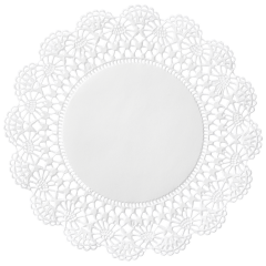 6 in White Cambridge Lace Doilies