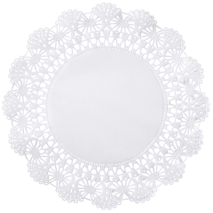 10 in White Cambridge Lace Doilies