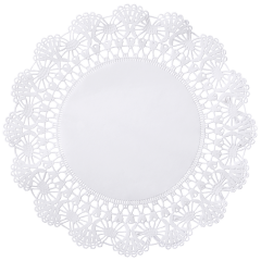 10 in White Cambridge Lace Doilies 1000 ct.