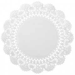 12 in White Cambridge Lace Glassine Doilies 1000 ct.
