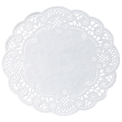 4 in White French Lace Doilies 1000 ct.