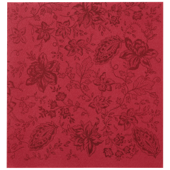 8 in x 8.5 in Linen-Like Burgundy Paisley Dinner Napkins 300 ct.