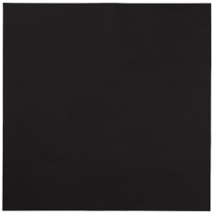16 in x 16 in Linen-Like Black Dinner Napkins Flat Pack 500 ct.